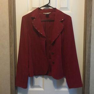 Red Suede dress jacket.